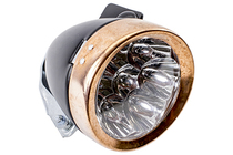 Retro Black and Copper Headlamp