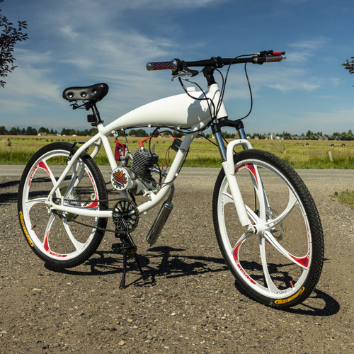 Zeda Screaming Demon V2 Engine-Ready Motorized Bicycle - Built In Gas Tank  - Gas Frame Bike