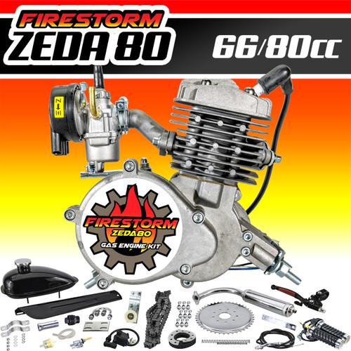 New Zeda 80 Complete 80cc 2 Stroke Motorized Bicycle Engine Kit - Firestorm Edition