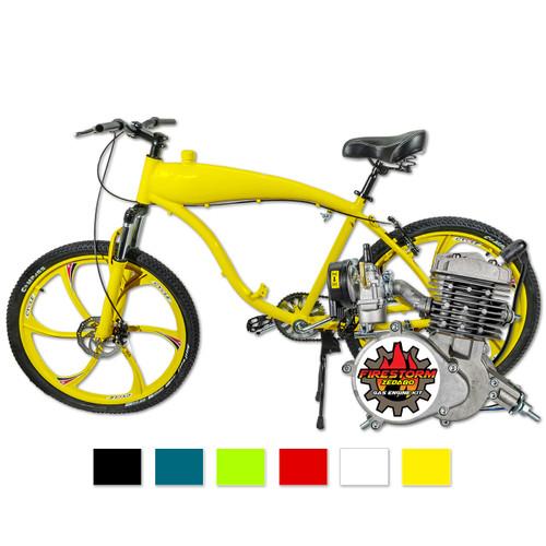 2 Stroke Zeda 80 Firestorm Engine & Screaming Demon Engine Ready Motorized Bicycle - Combo Kit