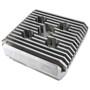 High Performance Silver CNC Aluminum Cylinder Head For 60cc / 80cc Motorized Bike Engine