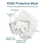 KN95 Respirator Face Mask With Ear Loops - CE Certified - FDA Registered - 10 Pack - As Low As 1.79 Each