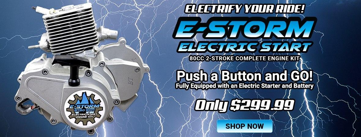 E-STORM Electric Start 80cc Engine Kit