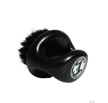 Irving Barber Company Black Firm  Boar Bristle Knuckle Brush