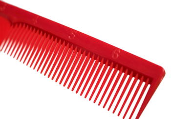 Irving Barber Company Red Styling Combs with Ruler Back