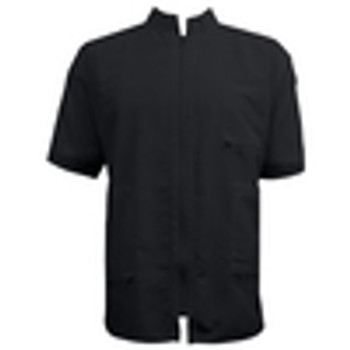 Vincent China Collar Black  Barber Jacket