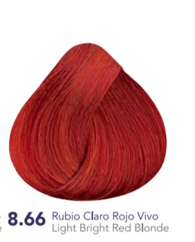 Hidracolor Creme Hair Color Light Bright Red Blonde 8.66