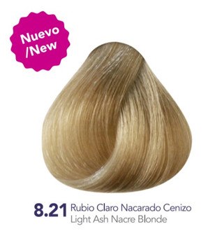 Hidracolor Creme Hair Color Light Ash Nacre Blonde 8.21