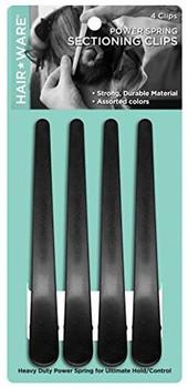 Hairware Carbon Clips 4pk