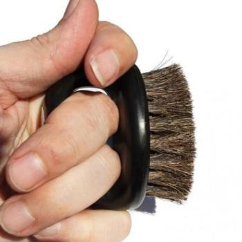 Irving Barber Company Black Boar Bristle Knuckle Brush