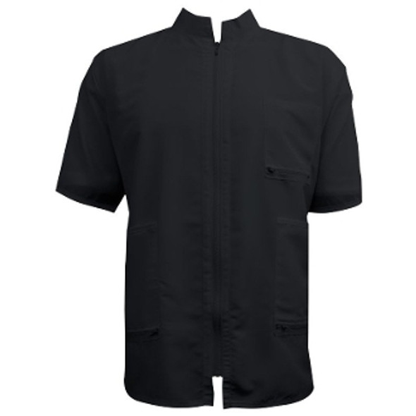 Vincent China Collar Barber Jacket - Black