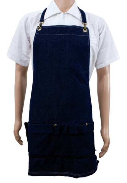 Vincent Indigo  Denim Apron  One Size
