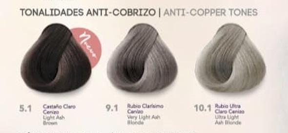Hidracolor Creme Hair Color Anti- Copper Series
