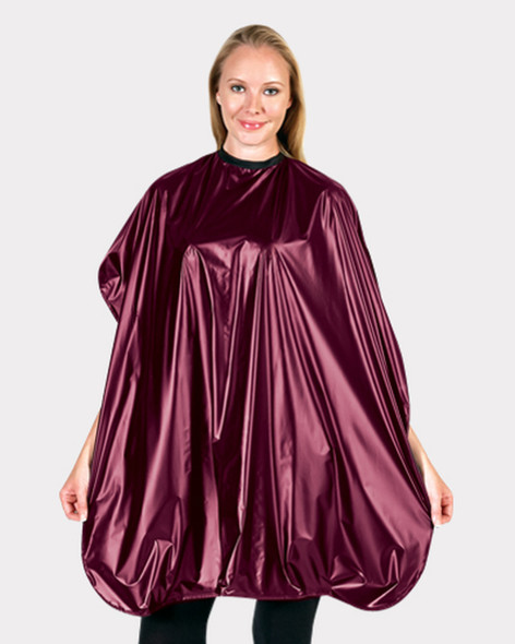 Betty Dain Lustre Shampoo Cape - Burgundy