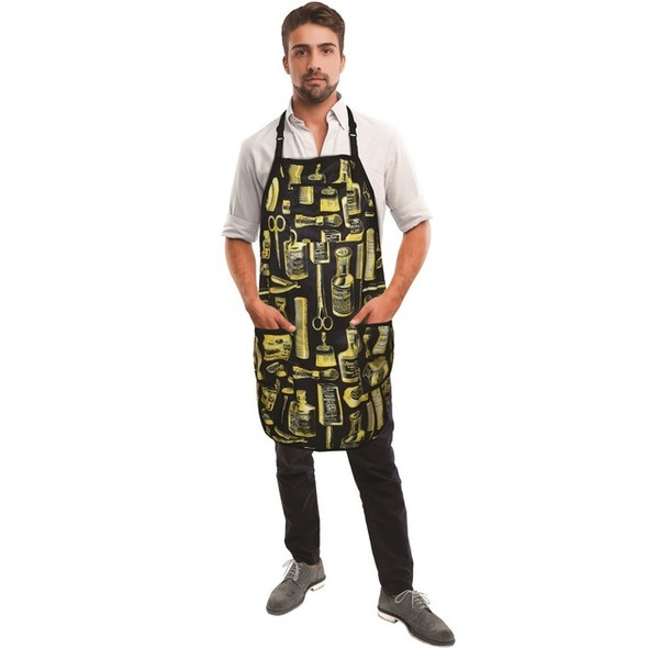 Betty Dain Vintage Barber Apron - Gold/Black