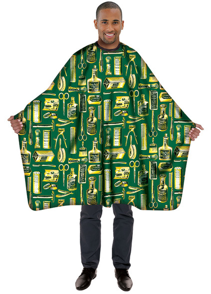 Betty Dain Vintage Styling Cape -  Gold/Green