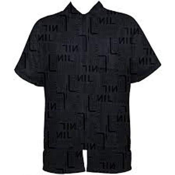 Vincent Heat Stamp Barber Jacket - Black