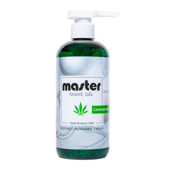 Master Cannabis Shave Gel 16 oz