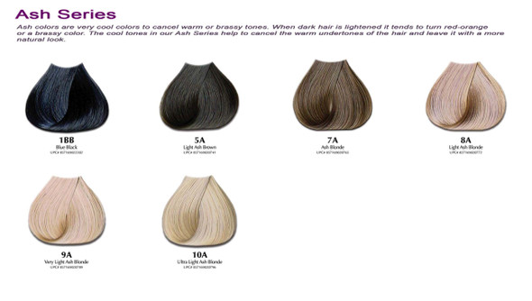 Satin Hair Color Ash Series