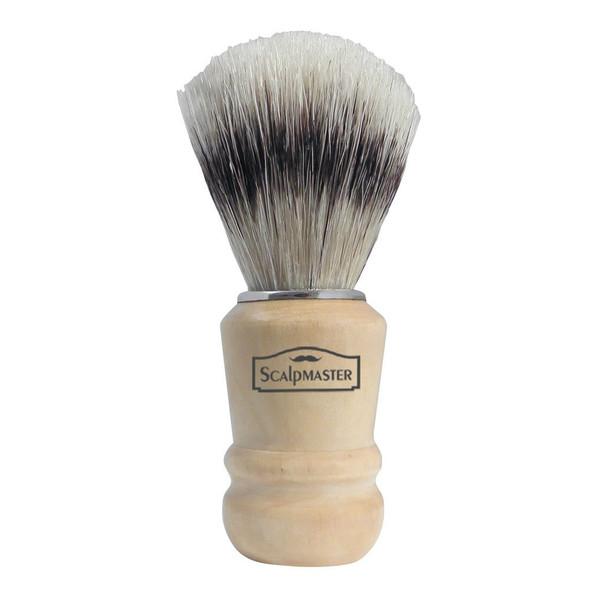 Scalpmaster Shaving Wood Handle Brush