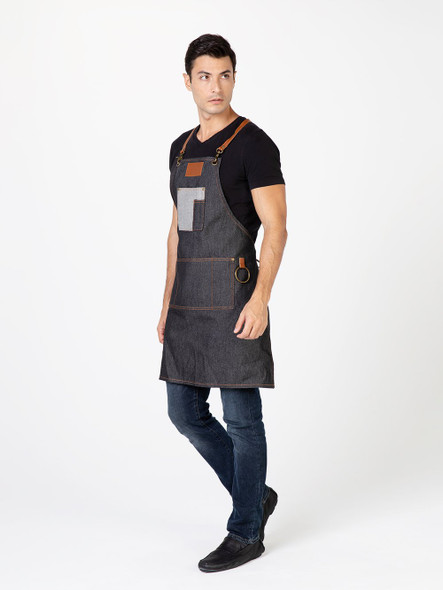 Betty Dain Brooklyn Denim Apron Blk