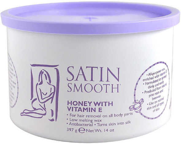 Satin Smooth Honey Wax with Vitamin E  14 oz