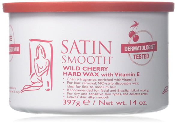 Satin Smooth Wild Cherry Hard Wax 14 oz
