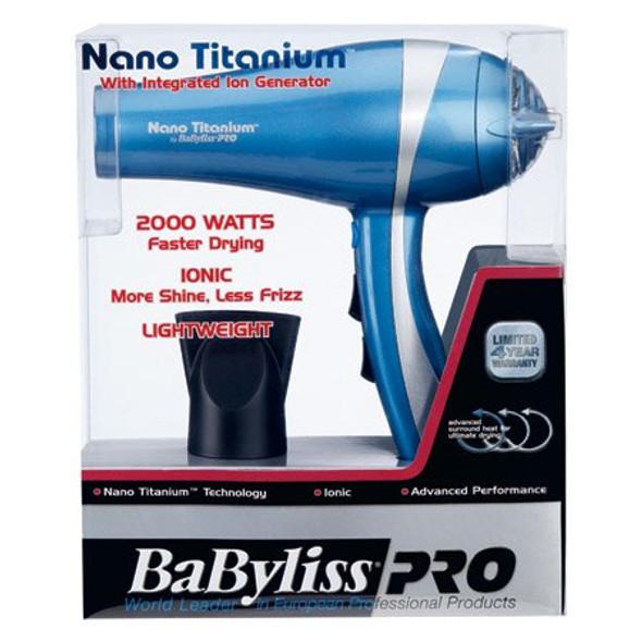 BaByliss Pro Nano Titanium Mid Size Hair Dryer