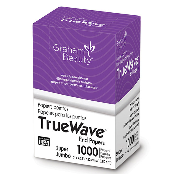 "Graham True Wave Super Jumbo End Papers 3"" x 4.25"""