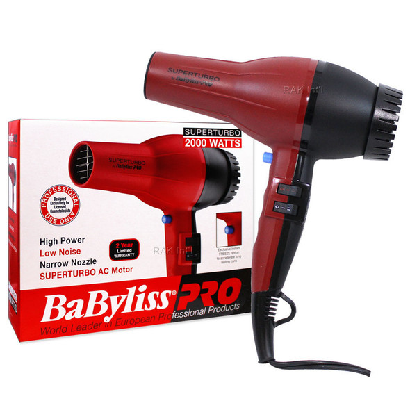 Babyliss PRO Super Turbo 2000 Watts Professional Hair Dryer
