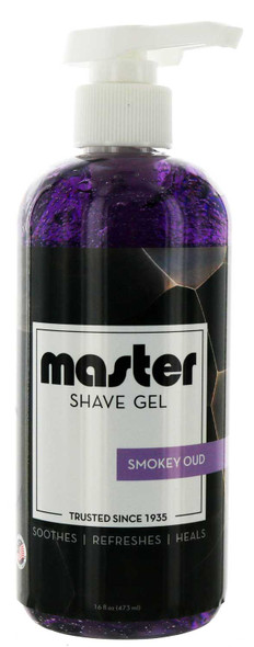 Master Smokey Oud Shave Gel 16 oz