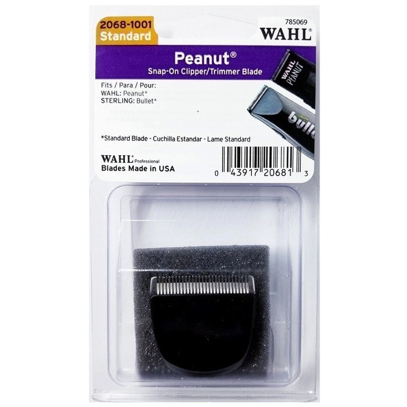 Wahl Peanut Snap-On Clipper / Trimmer Blade - Black #2068-1001