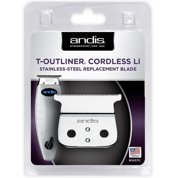 Andis T-Outliner Cordless Li Stainless Steel Replacement Blade 04570