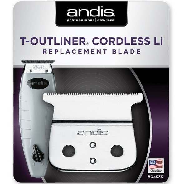 Andis Cordless T-Outliner Li Replacement T-Blade #04535