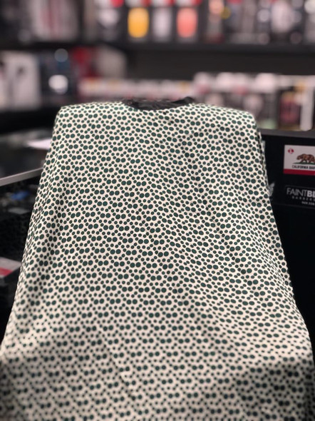 Hair Cutting Cape w Snap on Button Green Dots