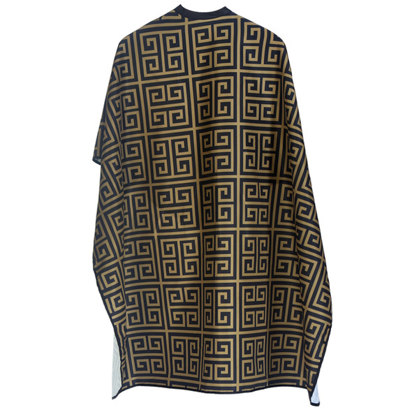 Styletek Barber Cape  Black and Gold Milan Cape
