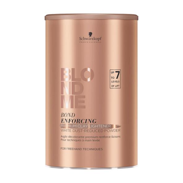Schwarzkopf BlondMe Bond Enforcing Premium Lightener 9+ Dust Free Powder – 15.8 oz