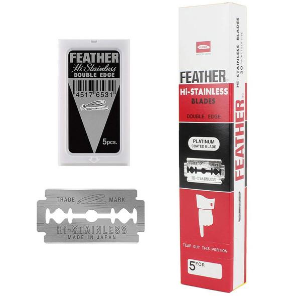 Feather Black Double Edge Razor Blades 100CT