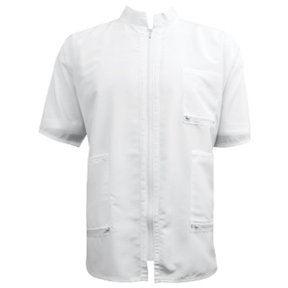 Vincent China Collar Barber Jacket - White