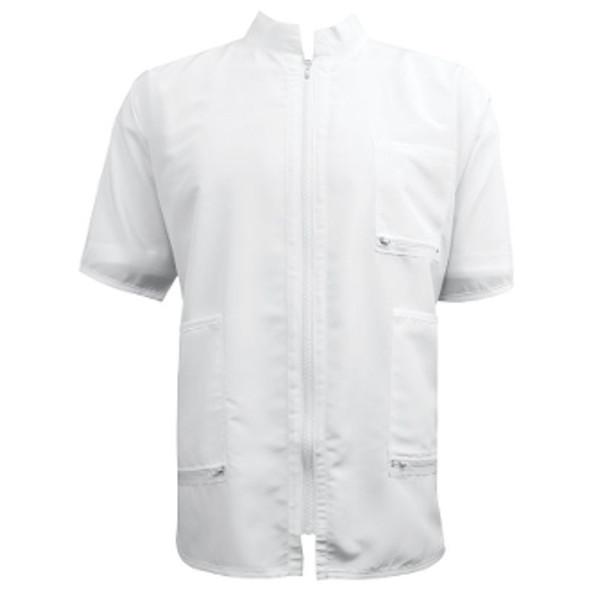 Vincent China Collar Barber Jacket - White
