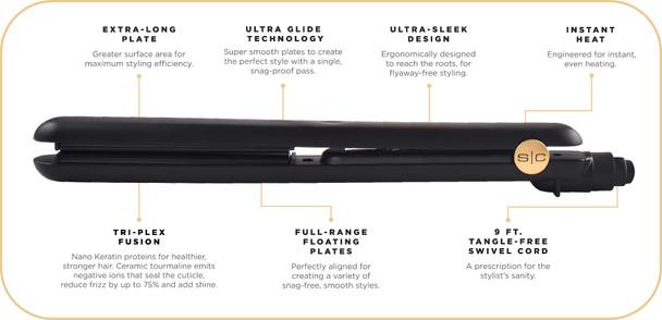 StyleCraft Professional Ultra Straightening Iron