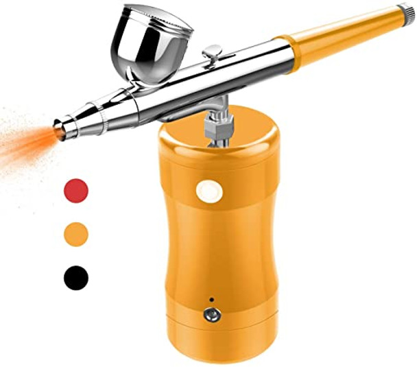 Airbrush Set Gold Color