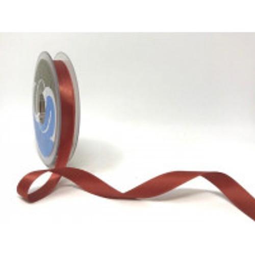 Rust Satin Ribbon, 15mm wide, Sold Per Metre