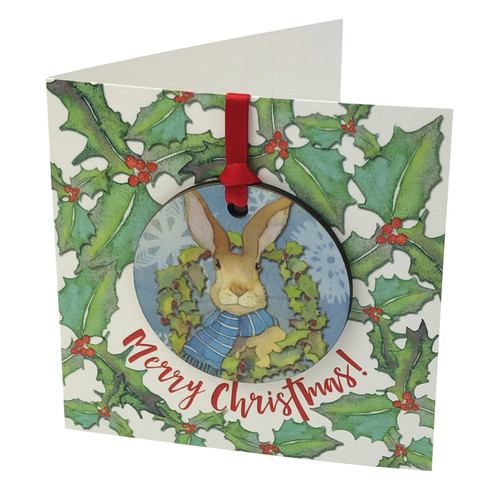Winter Hare, Bauble Card