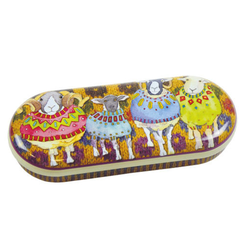 Sheep in sweaters Glass case