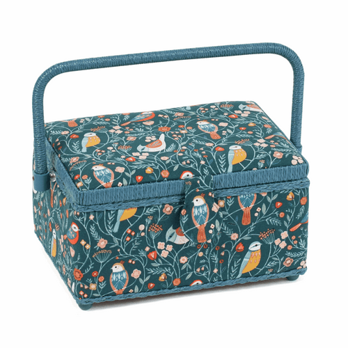 Sewing Box Medium in Aviary Print