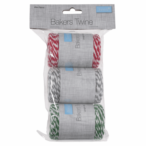Festive Bakers Twine  45m x 3mm: 3 Pack