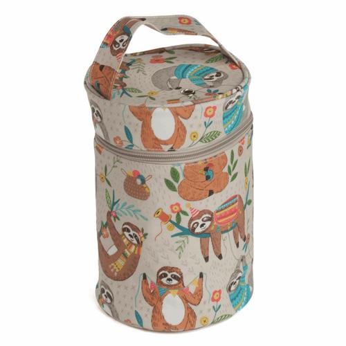 Yarn Holder In Cream Matt PVC Fabric with Sloth Design