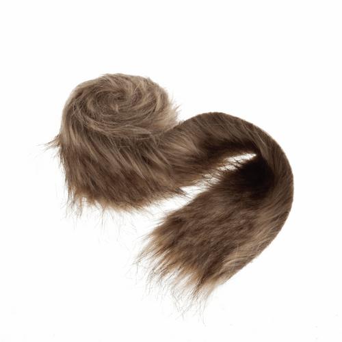 Brown Luxury Faux Fur Trim - 2m x 80mm Width