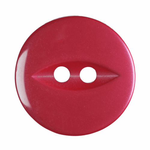 Red Fish Eye Button - Available in 4 Sizes (Sold Individually)